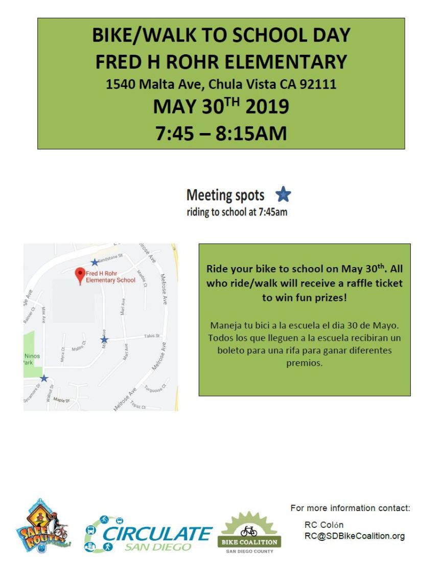 Bike Walk to School flyer - ROHR