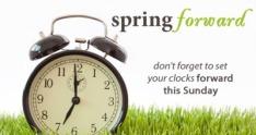 Image result for spring forward reminder